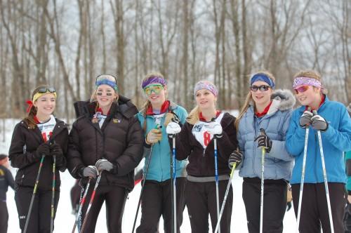 Allison Brosemer, Maddie Phaneuf, Jessica Hannah, Andrea Frey, Megan Greene, and Olivia Phaneuf.