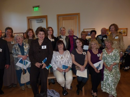 They're all Winners...Pastel artists gathered after receiving their respective awards in the 8th Annual Northeast National Pastel Exhibition. Photo by Michelle deCamp