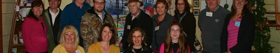 CHILDREN'S AUTHORS 7 ILLUSTRATORS...From Roq (l-r): Rose Mary Casciano Moziak, Christie Casciano, Anne Mazer & Maggie Henry. Back Row (l-r): Diane Chase, Tyler Chase, Gary VanRiper, Justin VanRiper, Pete Kline, Joyce Shavlin, Linda Reed, Bill Guiffre & Sharon Swain. (missing: Irene Uuttendorfsky & Carol VanRiper).