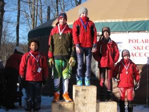 U12 Boys: B. Greene, 1st, C. Barkauskas, 2md, T. Kane, 4th, A. Fielteau, 5th