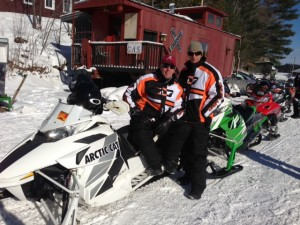 "Day of the Ride...Todd Foster & Mark ""Hollywood"" Armstrong in Raquette Lake"