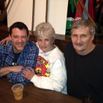 Tony Stewart with The Ole Barn owners Kathy & Ron Hansen