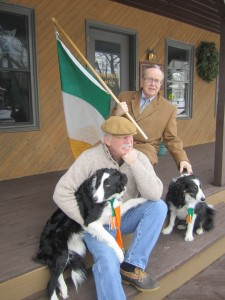 Chip Kiefer and Tim Foley gearing up for St. Patty's Day. Photo by Wende Carr