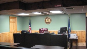 Town of Webb's remodeled courtroom and justice's bench. Courtesy photo