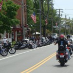 Bikes line Main Street in this file photo of Thunder in Old Forge