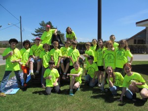 Mrs. Phinney's Town of Webb school fifth grade class. Photo by Laurie Barkauskas