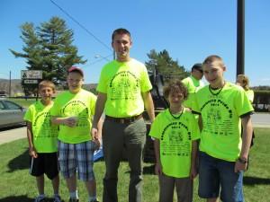 Town of Webb Principal John Swick with members of the fifth grade. L. Barkauskas photo