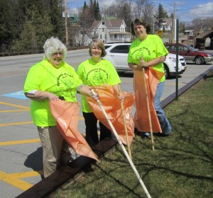 Martha Denio, Nanci Russell and Ann Croneiser, gearing up for the Wednesday, May 1 Community Pride Day. Photo by Wende Carr