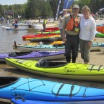 Luy Lindeyer and Skip Taylor pose with a line of Swift kayaks. Photos by Wende Carr