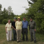 Banding crew Wendy Burkowski, Gordon Howard, Ellie George, me, Tom Barber