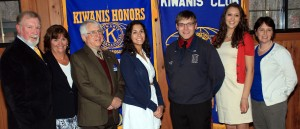 From left, Kiwanis VP Mike Griffin, Town of Webb School Counselor Kandis Griffin, Kiwanis Past President and Student of the Month Committee Chairman Ray Schoeberlein, March Student of the Month Molly Rodriguez, February Student of the Month Hanson Schmid, April Student of the Month Lauren Holt and Kiwanis member and Town of Webb School Key Club Advisor Diane Amos. Courtesy photo