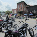 Main Street, Old Forge hosted biker visitors last weekend for annual Thunder in Old Forge. Photos by Jay Lawson