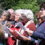 Choir at Riverview Cemetery. Photo by Sydney Lawson