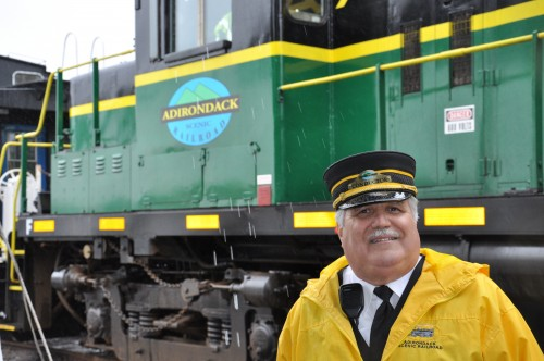 Don Marino, Conductor with Adirondack Scenic Railway Car. Photo by Wende Carr