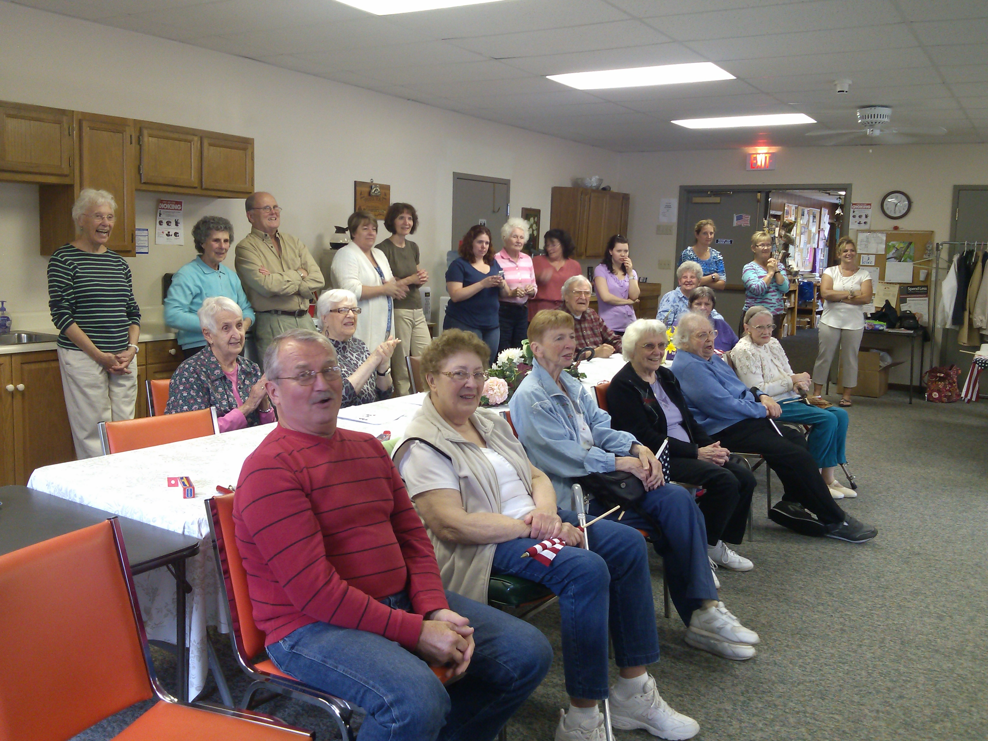 The Inlet Respite Group including the staff, Inlet Common School Teachers, and parents look on. Courtesy photo