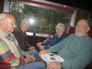 Jack and Margo Boylan, Claire and Richard Oehler rode the train to Big Moose Station. Photo by Wende Carr