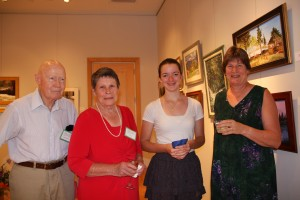 Dr. Robert and Liz Martin with granddaughter Catherine Reynolds, and daughter Claire Bareiss