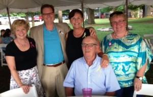 Marianne Christy, Alan Saban. Linda Frank, Lavern Phillips, and Jennifer Potter Hayes