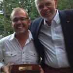 People's Choice Winner Jason Jost with Deke Morrison