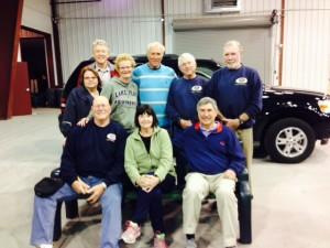 From left, back row: Dee Kraft; Co-Chair, Chris Kraft; Penny Stuart; Carmen Mastroianni; Ray Schoeberlein; President Mike Griffin; Front Row: Co-Chair Tom Smedley; Sheila Brady and Chris Gaige.