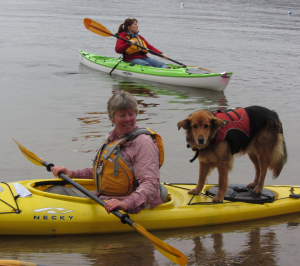 Connie Perry of Frisky Otter Tours offered kayak lessons on Fourth Lake. J. Lawson