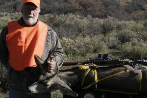 Bob Miskanin and first mule deer