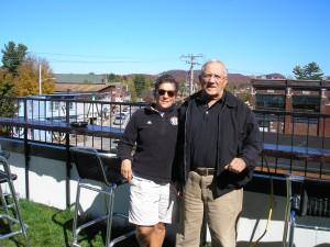 Sue & Tony Spagnola of Auburn and Syracuse ventured atop the new 46 Lounge