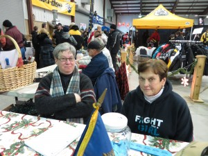 Judy Ehrensbeck & Diane Tique at the American Legion Auxiliary booth