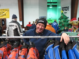 Mike Ross, an organizer of the youth snowmobile races