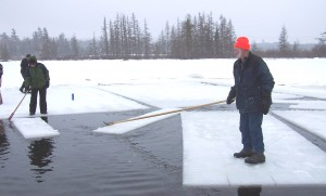 Raquette Lake Ice Harvest activity from 2013.  File photo