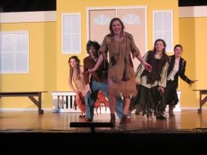Cast Members, from left, Lexie Beal, Ryan Johnston, Olivia Phaneuf, Mara Gaffney, Ally Cooper. Photo by Gina Greco