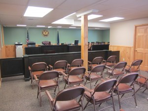 The interior of the newly renovated Town of Webb Justice Court in Old Forge.  Photos by Gina Greco