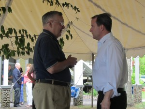 Candidate Matt Doheny, left, and Dick Lasher. Photos by Gina Greco