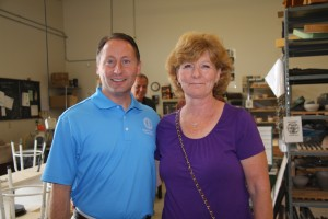 Rob Astorino at View, with Nancy Venetz, a Republican committee member from the Town of Webb. Photo by Michele deCamp