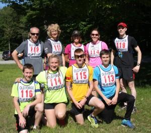 Polar Bear Biathlon Club racers, from left, Tyler Rudolph, Megan Greene, Connor Hrynuk, and Henry Uzdavinis. Photos by Michele deCamp