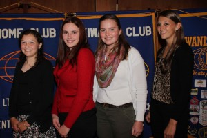 Mara Gaffney, from left, Melissa Murphy,  Olivia Phaneuf, and Briana Brownsell.