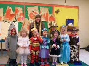 The three-year-old Kinderwood students