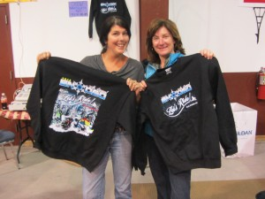 Laurie Barkauskas and Elise LaGrange at Snodeo in Old Forge