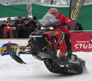 While the Central Adirondack Association was opening Snodeo weekend in Old Forge, the White Otter Fish & Game Club was welcoming race spectators to the 25th Anniversary Snowmobile Shootout in Woodgate on Friday, December 12. Photo by Jay Lawson