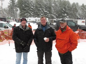White Otter Fish & Game Club volunteers, Jim Carroll, Keith Dunn and Don Adams