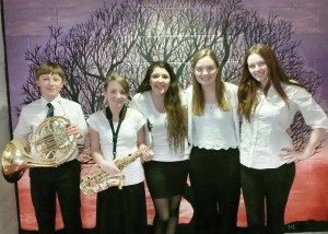 BiCounty Music Festival performers: Jens Bartel, Laura Bogardus, Allyson Cooper, Olivia Phaneuf, and Melissa Murphy.