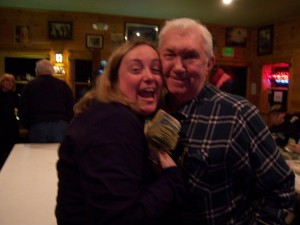 The winner of the 50/50 was Amy Quellette of Ballston Spa, NY: $325. Presented by Bob Gordon.