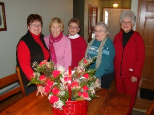 Sorority ladies pictured are, from left, Hazel Dellavia, Carolyn Trimbach, Barb Ball, GiGi Hollister,  and Penny Smedley.