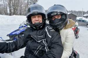 Governor Andrew Cuomo and his daughter, were in the  area last week to enjoy  some snowmobiling  on the Tug Hill.  Photo submitted