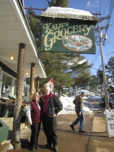 Carol and Herb Schmid at Kalil's Grocery in Inlet. Photo by Marianne Christy