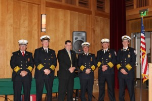 Woodgate Fire Chief Tony Sege, Otter Lake Chief Jeff Abrial, Town of Webb Police Chief Ron Johnston, Old Forge Chief Charlie Bogardus, Eagle Bay Chief Shane Beach and Big Moose Chief Jason Pratt. Photos by Kelly Hunkins