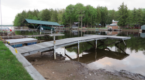 Dry docks on the Hollywood Hills side of the Channel in Old Forge.