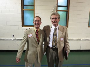 H. Stuart deCamp, left, and Robert Moore, both running for Town of Webb supervisor, were among the candidates on hand at WPOA's Question and Answer forum last Tuesday. Photo by Jay Lawson