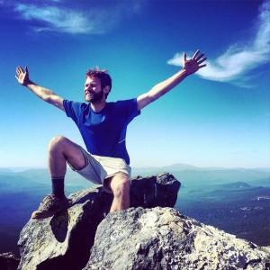 Tyler Socash on top of Mount Thielsen