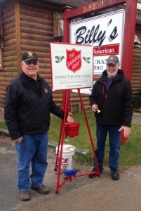 Kiwanis members and Salvation Army volunteer bell-ringers Bill Ransom, left, and Mike Griffin. Courtesy photo